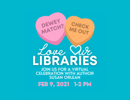 Save the Date for our Library Celebration on February 9th, 2021 when we'll be showing our love and appreciation for Sarasota County Libraries and everyone who works to support them.